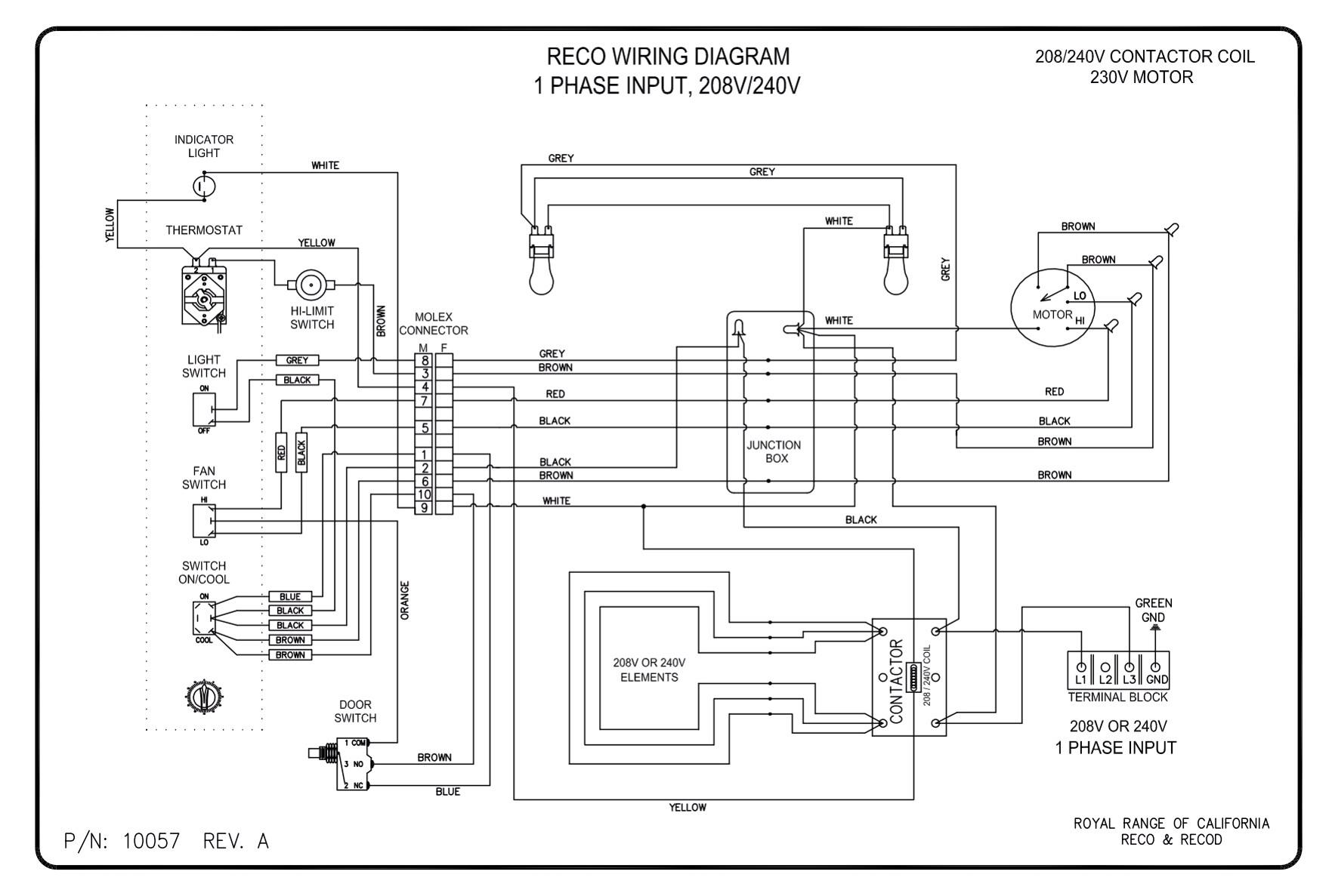 3 Phase Convection Oven Wiring Diagram Custom 220v Diagrams Royal Range Of California Rh Royalranges Com 460 220