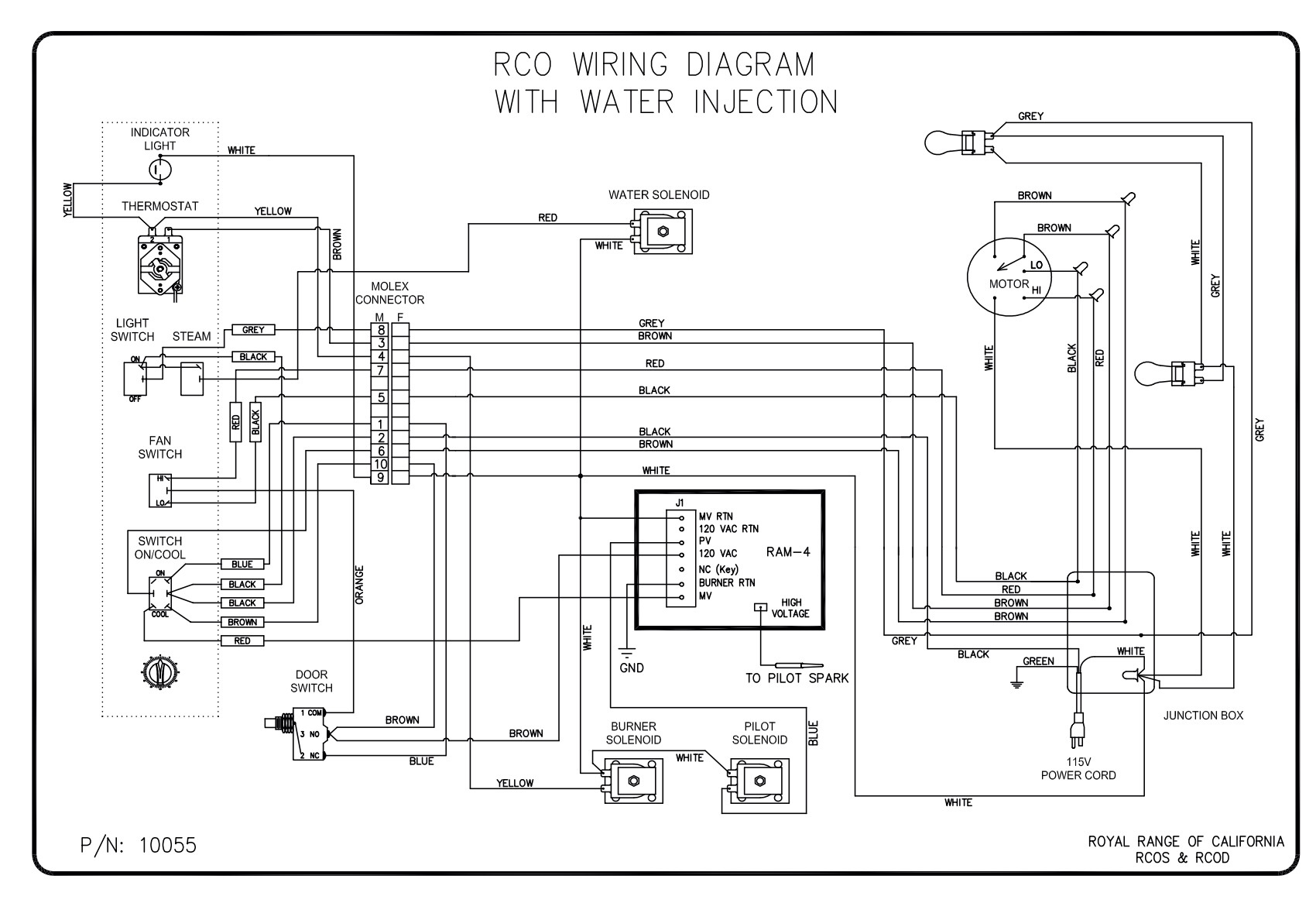 RCO w water inj prior2014 wiring diagrams royal range of california Range Plug Wiring Diagram at n-0.co