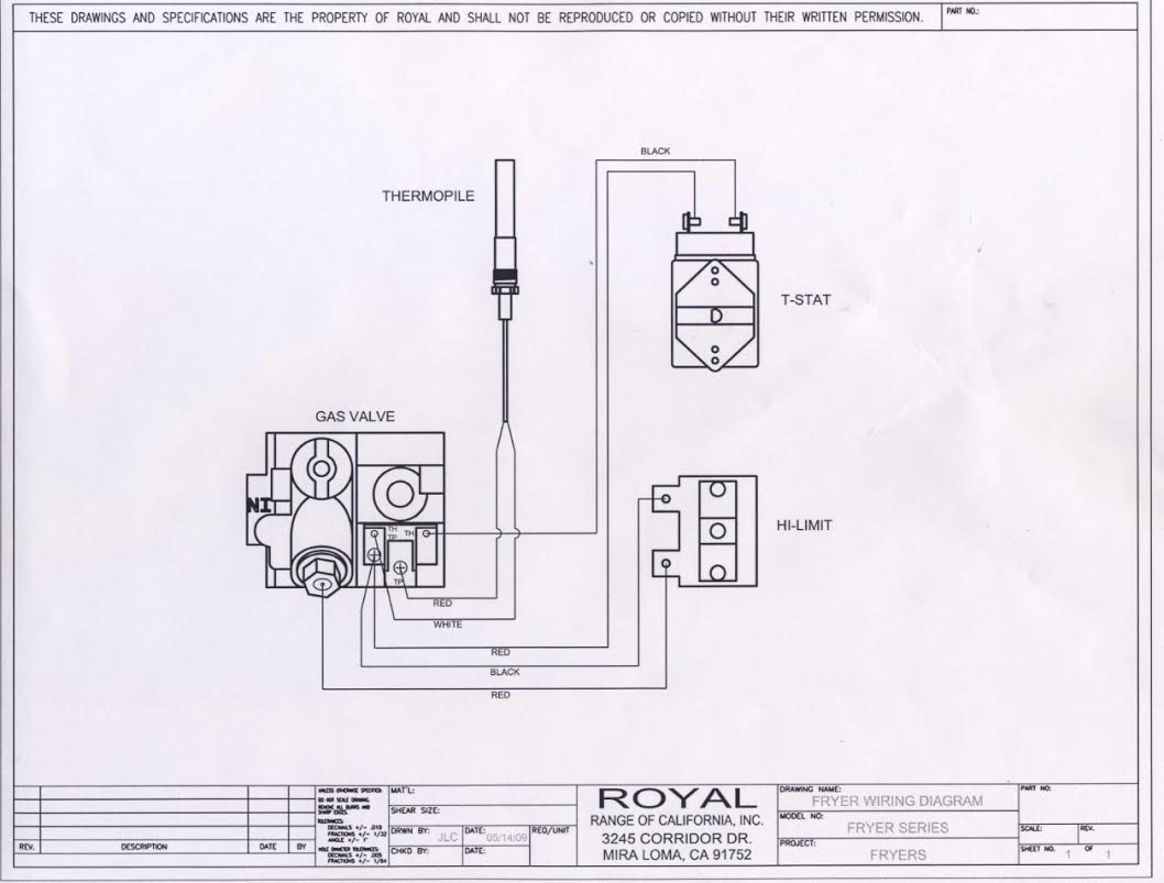 wiring diagrams - royal range of california imperial deep fryer wiring diagram